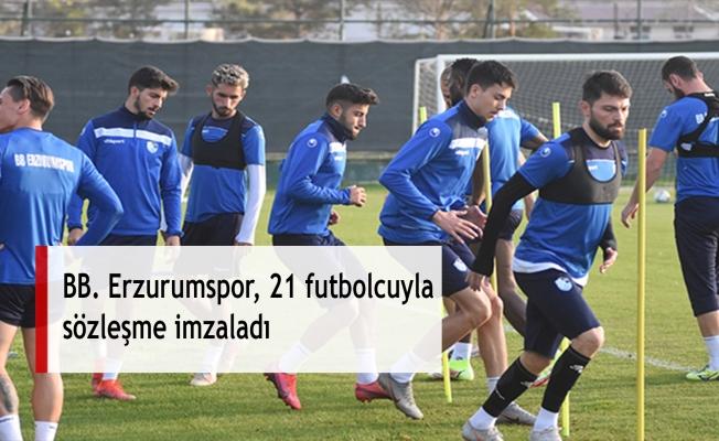 BB. Erzurumspor, 21 futbolcuyla sözleşme imzaladı