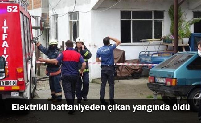 Elektrikli battaniyeden çıkan yangında öldü