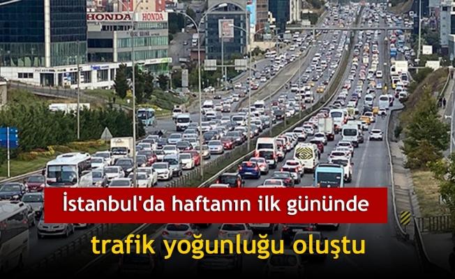İstanbul'da haftanın ilk gününde trafik yoğunluğu oluştu