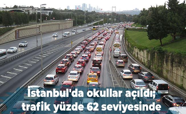 İstanbul'da okullar açıldı; trafik yüzde 62 seviyesinde
