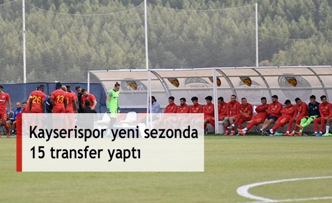Kayserispor yeni sezonda 15 transfer yaptı