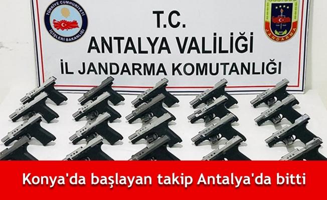 Konya'da başlayan takip Antalya'da bitti