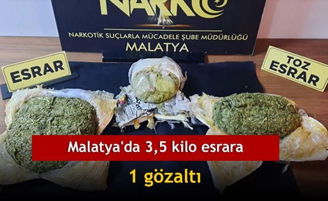 Malatya'da 3,5 kilo esrara 1 gözaltı