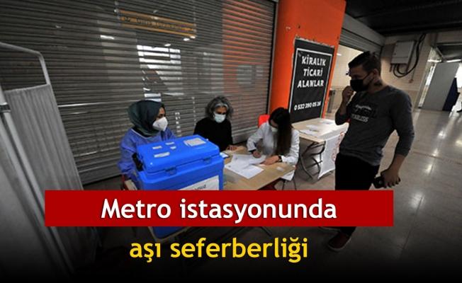 Metro istasyonunda aşı seferberliği