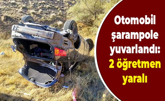 Otomobil şarampole yuvarlandı: 2 öğretmen yaralı