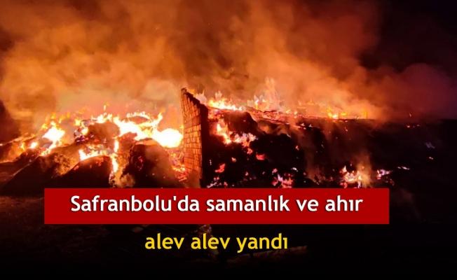 Safranbolu'da samanlık ve ahır alev alev yandı