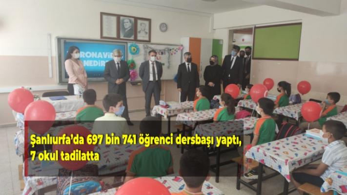 Şanlıurfa'da 697 bin 741 öğrenci dersbaşı yaptı, 7 okul tadilatta
