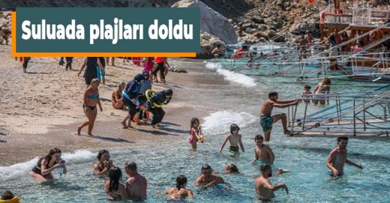 Suluada plajları doldu