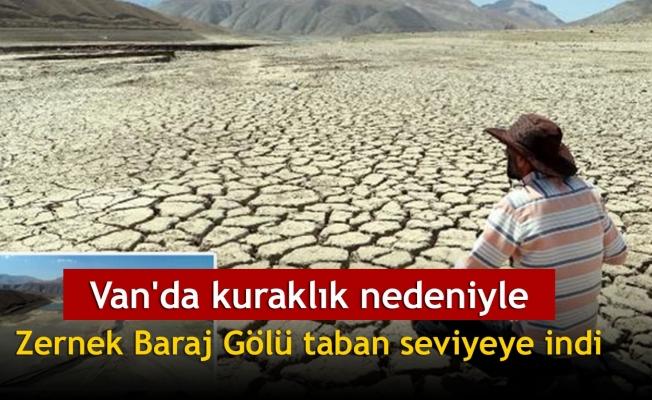 Van'da kuraklık nedeniyle Zernek Baraj Gölü taban seviyeye indi