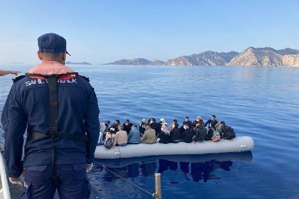 Bodrum'da açıklarında 25 kaçak göçmen kurtarıldı