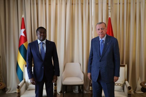 Cumhurbaşkanı Erdoğan, Togo Cumhurbaşkanı Gnassingbe ile ikili görüştü