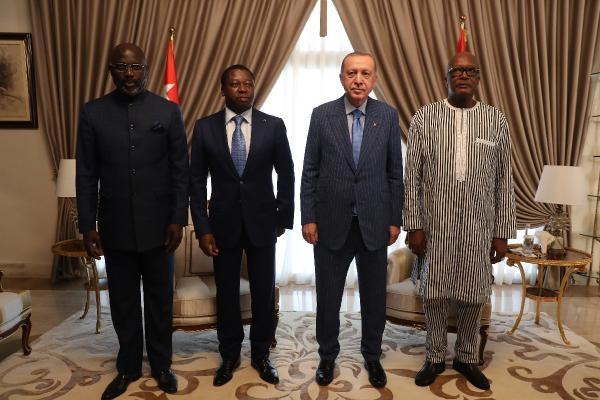 Cumhurbaşkanı Erdoğan, Togo, Liberya ve Burkina Faso Cumhurbaşkanları ile görüştü