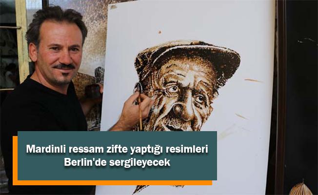 Mardinli ressam zifte yaptığı resimleri Berlin'de sergileyecek