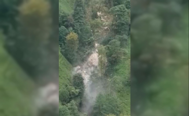 The moment of landslide in Rize