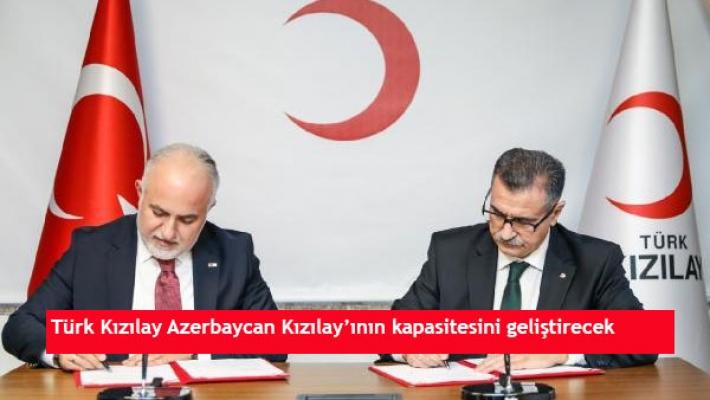 Türk Kızılay Azerbaycan Kızılay'ının kapasitesini geliştirecek