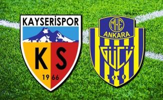 Kayserispor - Ankaragücü'nün 11'leri belli oldu!