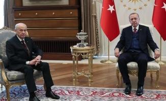 Başkan Erdoğan-Bahçeli görüşmesi bitti