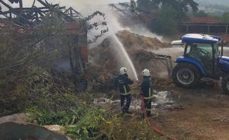 Bursa'da yangını söndürmeye çalışanlara şok!