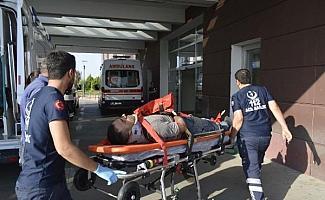 Adıyaman'da iskeleden düşen işçi yaralandı