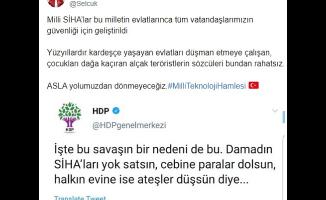 HDP'ye Bayraktar'dan sert cevap!