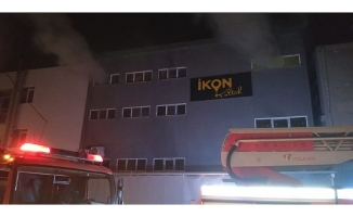 İnegöl'de fabrika  yangını
