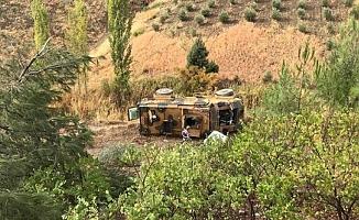 Kahramanmaraş'ta askeri araç devrildi: Yaralılar var!