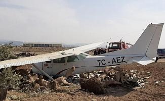 Sivil eğitim uçağı kaza yaptı