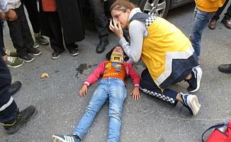 Ataşehir'de küçük kıza  otomobil çarptı
