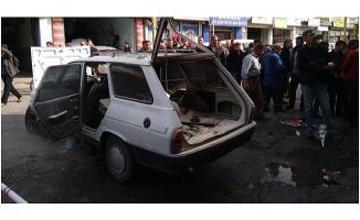 Otomobilin LPG tankı patladı