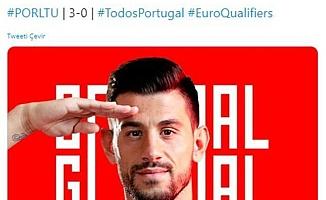 Portekiz resmi hesabı golü 'asker selamı'yla duyurdu!
