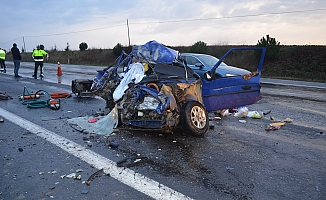 Tekirdağ'da korkunç kaza