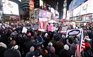 Binlerce kişi Trump için eylem yaptı