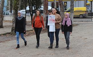 Bursa'da kapı kapı gezip vatandaşları bilinçlendirdiler