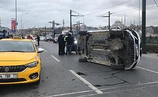 Galata Köprüsü'nde kaza