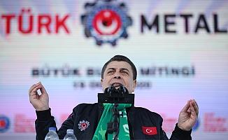 Metal işçileri Bursa'da miting düzenledi