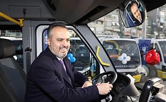 Bursa'da 28 mikrobüs hizmete girdi
