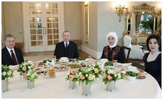Erdoğan, Özbekistan Cumhurbaşkanı ile görüştü