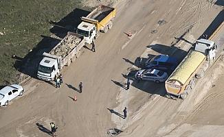 Havadan tespit edilen,kamyona ceza yağdı!