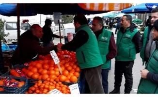 Mudanya'da üretici pazarlarında denetim