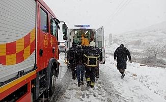 Yollar kar-buz ve trafik kazası!
