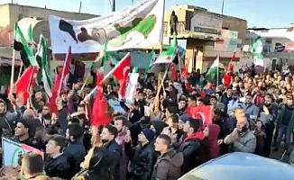 Suriye'de halktan Bahar Kalkanı Harekatı'na destek