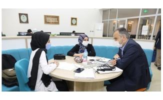 Başkan Aktaş'tan üniversite adaylarına moral ziyareti
