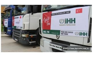 Bursa'dan İdlib ve Halep'e yardım tırı