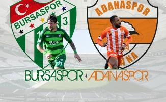 Bursaspor, kritik Adanaspor'u ağırlayacak