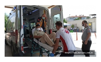 İş makinesi enerji hattına temas etti, operatör yaralandı