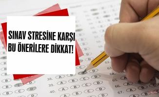 Sınav stresine karşı önerilere bu dikkat...