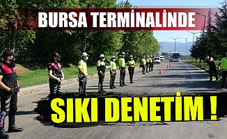 Bayram öncesi Bursa terminali abluka altında