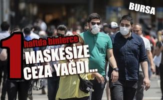 Bursa'da binlerce kişiye maske cezası