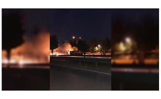 Bursa'da otobüs yandı
