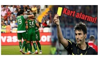 Bursaspor'da kart alarmı